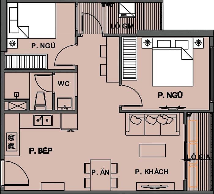 cho thuê căn hộ vinhomes grand park 2pn1wc