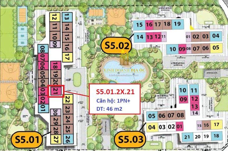 vị trí cho thuê căn 1pn S5.01.2x.21