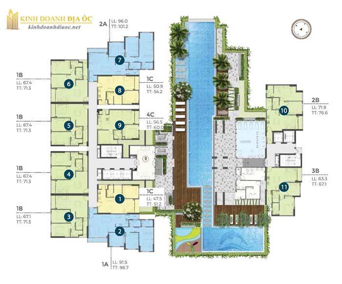 Căn hộ Precia quận 2 (mặt bằng tầng 4)