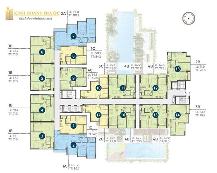 Căn hộ Precia quận 2 (mặt bằng tầng 5-21)