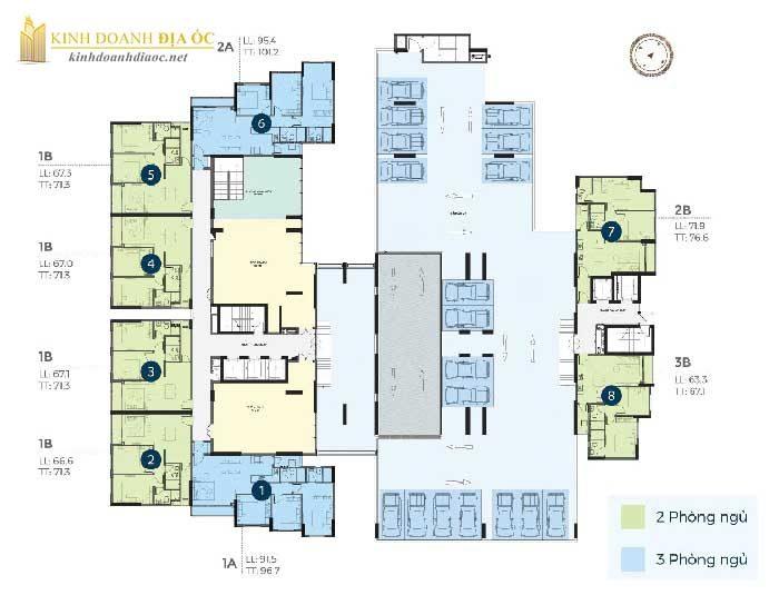 Mặt bằng căn hộ precia quận 2 tầng 3