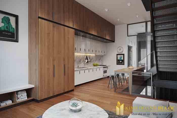 hình thiết kế bếp căn hộ