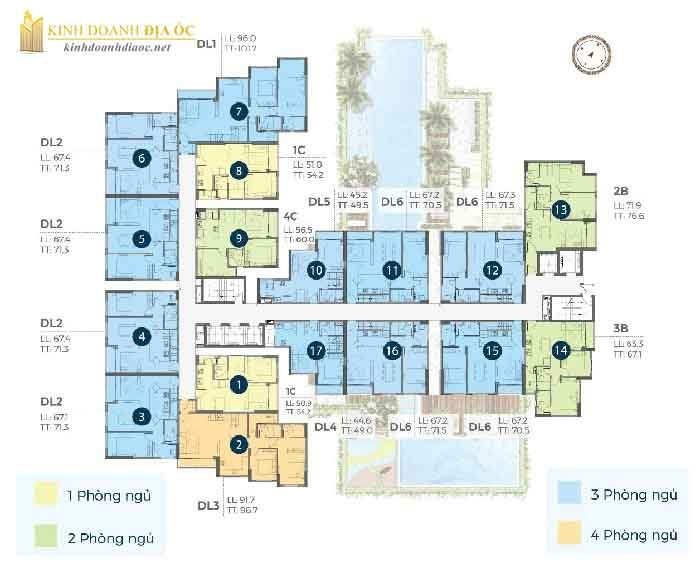 mặt bằng căn hộ precia quận 2 tầng 22
