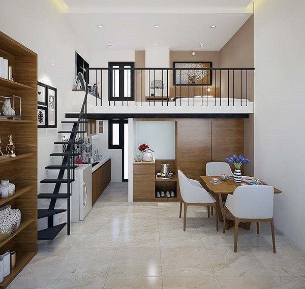 thiết kế căn hộ mini 25m2 đẹp