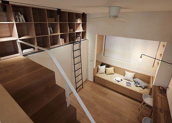 thiết kế căn hộ mini 15m2