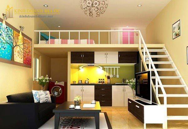 thiết kế căn hộ mini 25m2