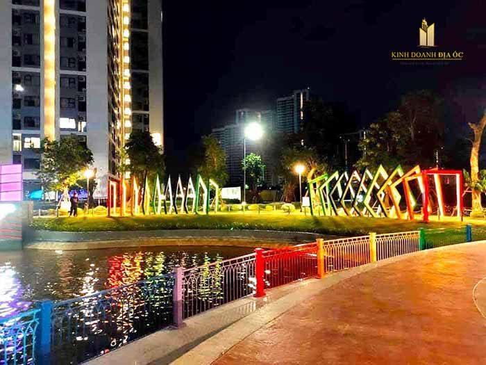 công viên the raibow buổi tối