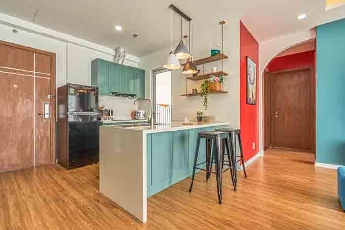 không gian bếp căn hộ 2pn