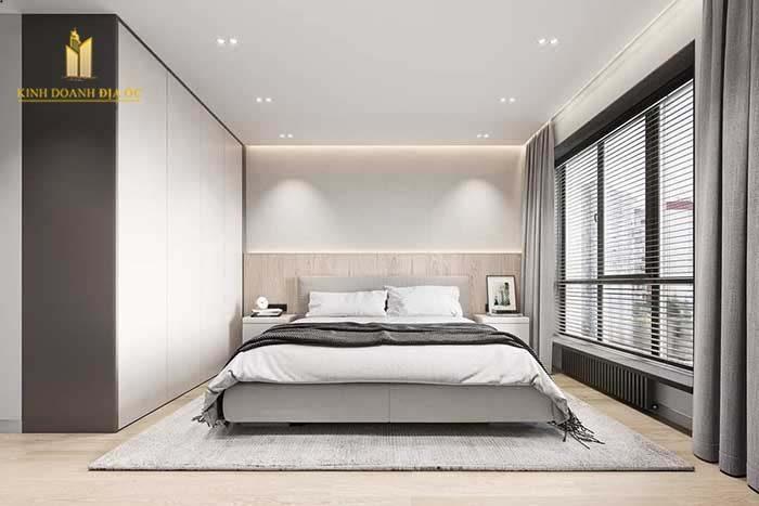 không gian phòng ngủ rộng rãi