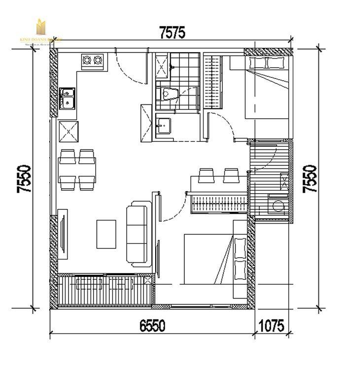 mặt bằng căn hộ 2 pn vinhomes quận 9