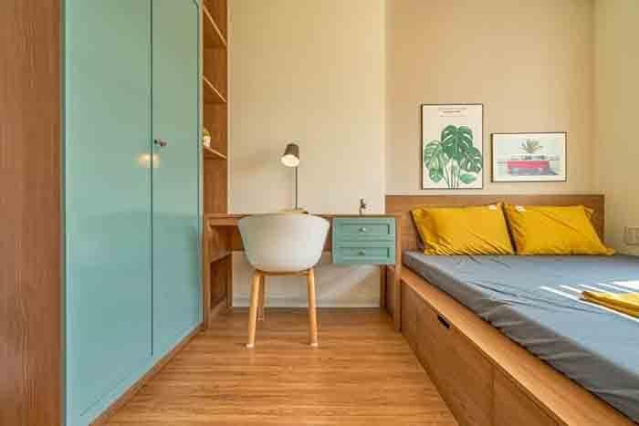 phòng ngủ nhiều màu sắc