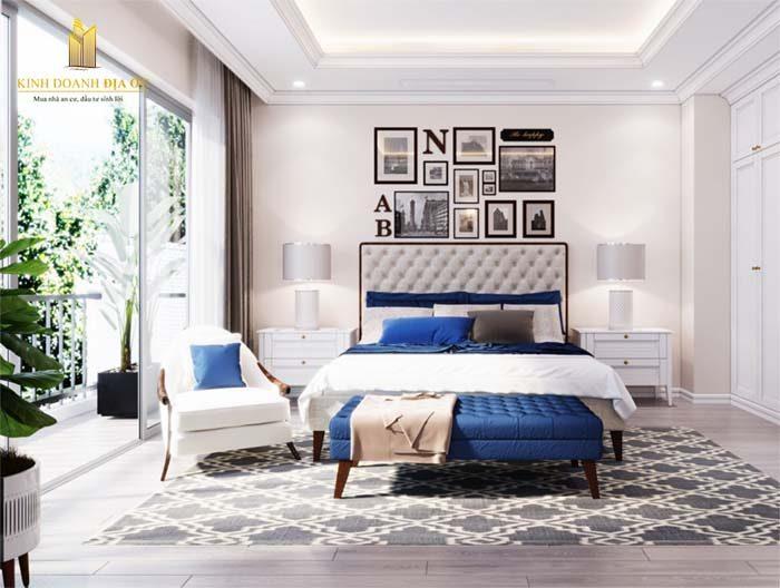 phòng ngủ tràn ánh nắng