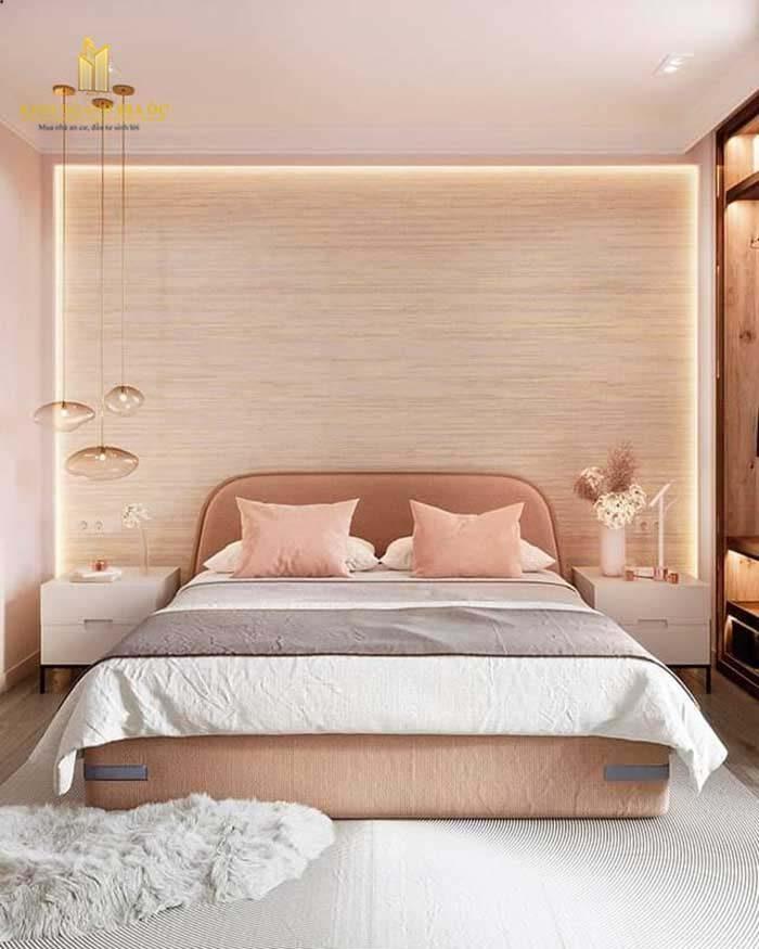 sắc hồng cho không gian phòng ngủ