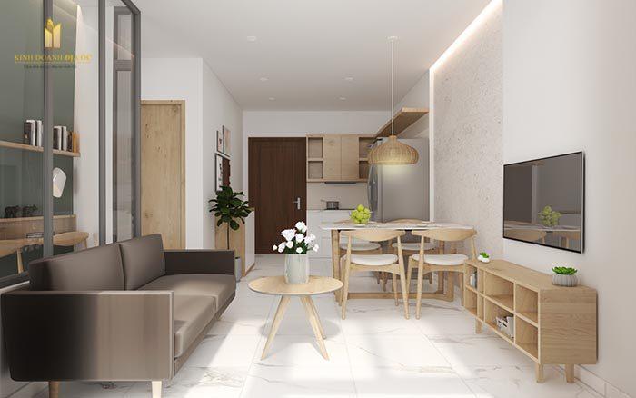 thiết kế nội thất căn hộ 2pn+1