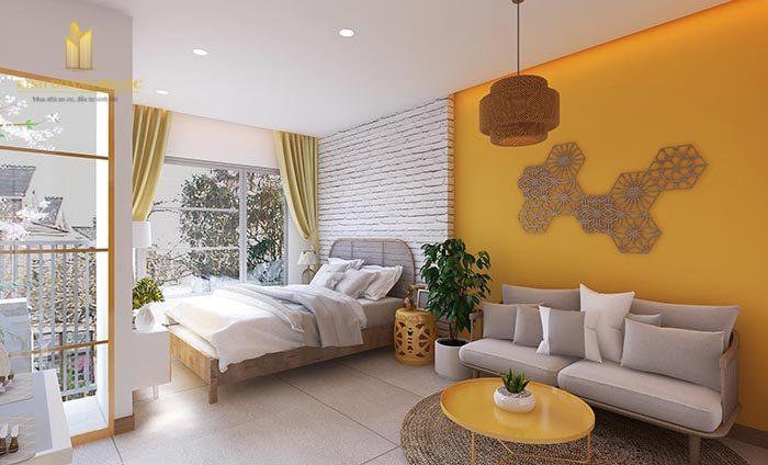 thiết kế nội thất căn hộ studio vinhomes