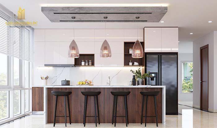 thiết kế nội thất bếp căn hộ hộ