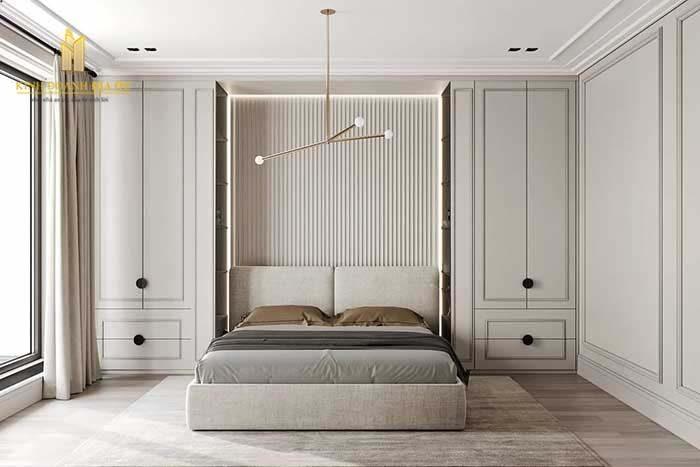 tone trang trong thiết kế phòng ngủ