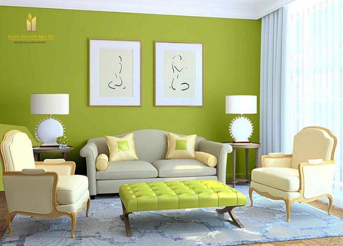 Chọn màu sơn nhà theo mệnh Mộc