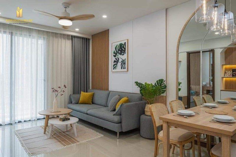 Thiết kế căn hộ 1PN phong cách đông dương
