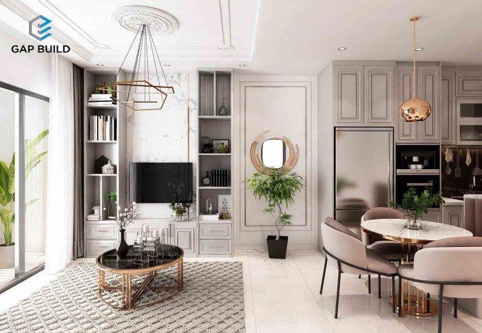 thiết kế bếp căn hộ vinhomes grand park 2pn