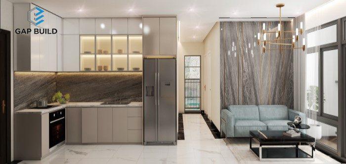 thiết kế nội thất căn hộ 3PN đẹp