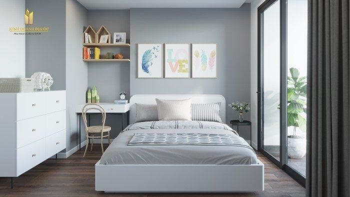 thiết kế phòng ngủ căn hộ 3pn