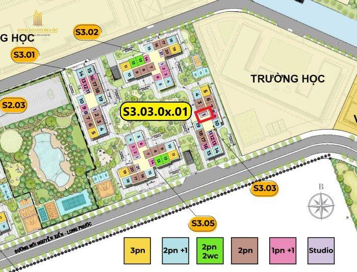 vị trí căn hộ S3.03.07.11
