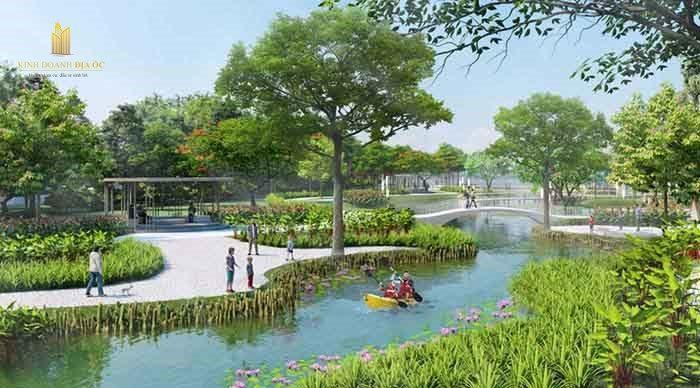 công viên Angel island ven sông
