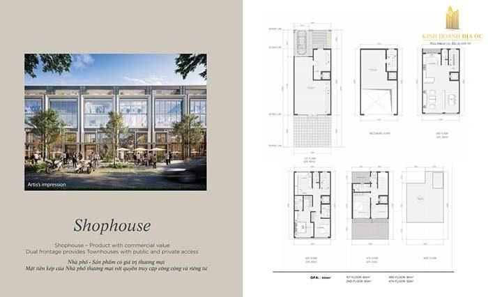 thiết kế Shophouse Angel Island