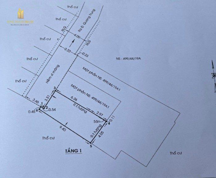 bán đất nền hẻm 499 quang trung p10 gò vấp
