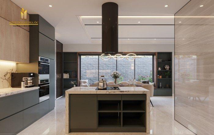thiết kế bếp hiện đại sang trọng