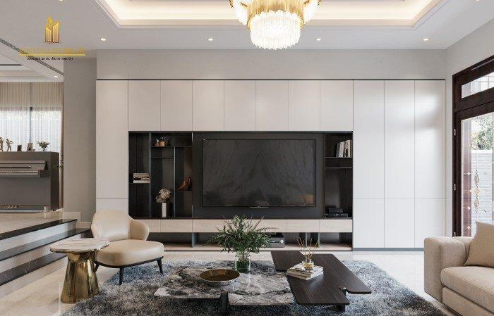 thiết kế biệt thự nội thất hiện đại