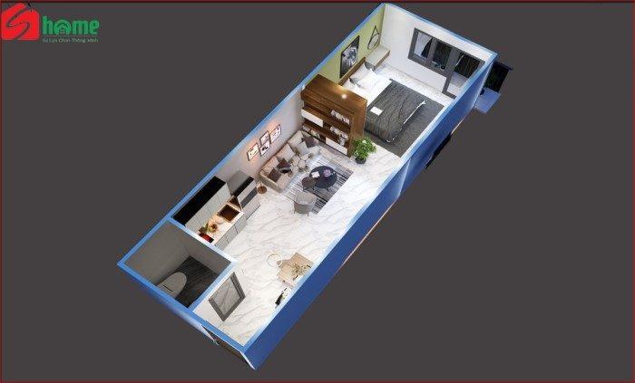 thiết kế căn hộ mini s-home tan binh