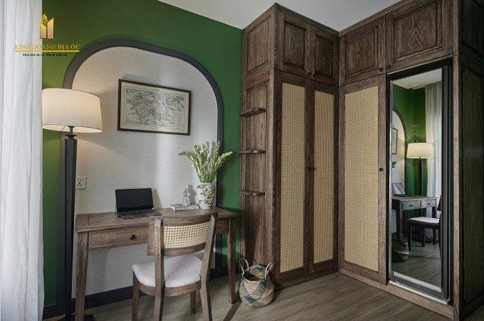 thiết kế căn hộ nội thất hoài cổ nét xưa