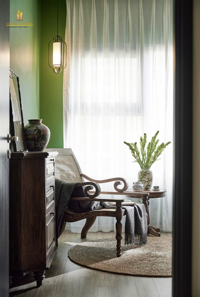 thiết kế căn hộ phong cách đông dương hoài cổ