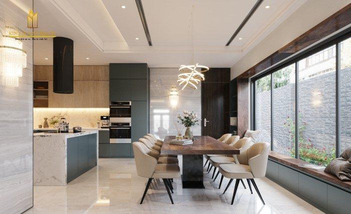 thiết kế không gian bếp hiện đại cao cấp