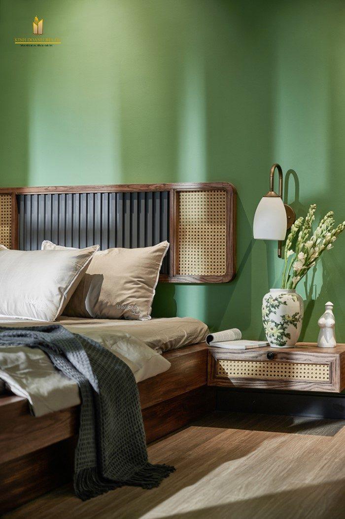 thiết kế nội thất phòng ngủ phong cách indochine