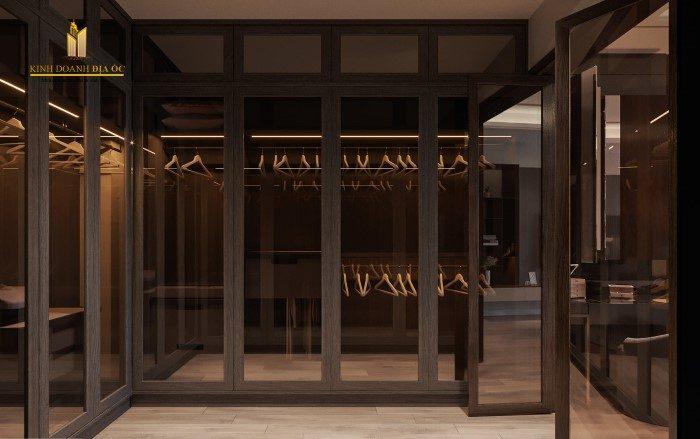 thiết kế phòng để đồ trong biệt thự sang trọng