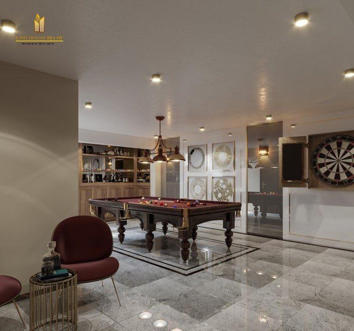 thiết kế phòng giải trí cao cấp trong biệt thự