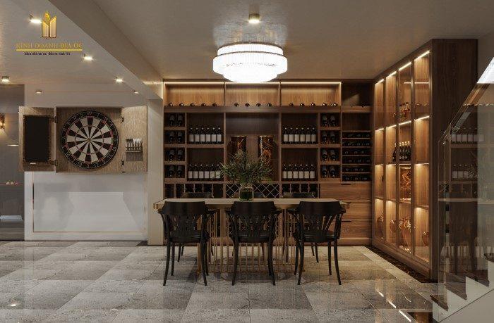 thiết kế phòng trung bày rượu cao cấp