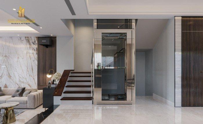 thiết kế thang máy cao cấp biệt thự