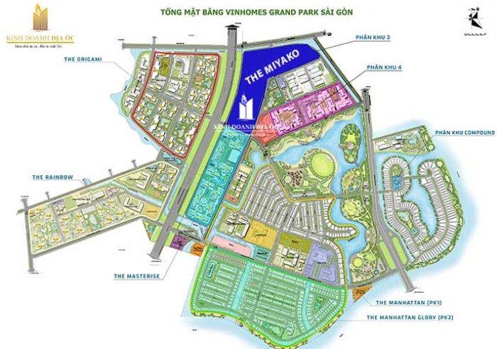 vị trí miyako - vinhomes grand park quan 9