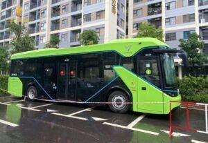 Xe Bus Điện VinFast Xuất Hiện Lần Đầu Tại Vinhomes Grand Park