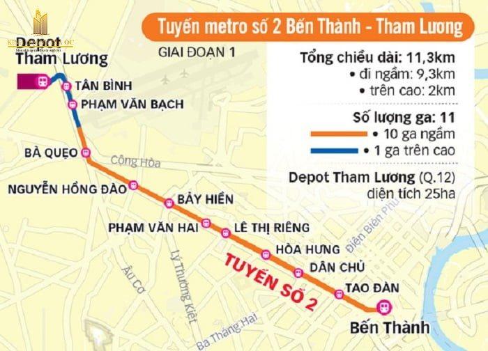 bản đồ tuyến metro số 2
